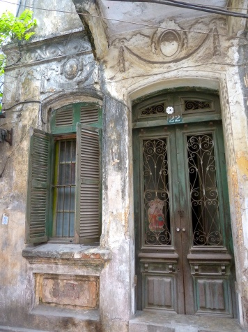 Very old Hanoi house. It was possibly built in 20s, French colonial age.  Reminds me of the house in The Lover by Duras.