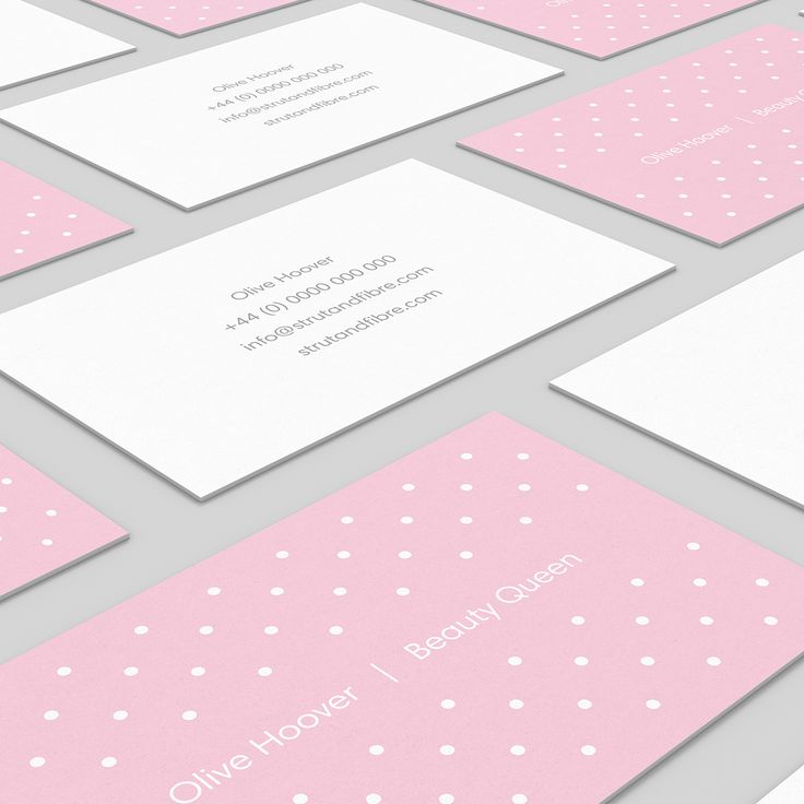 Hoover – one of our Spots business card templates available to customise and order on our site.