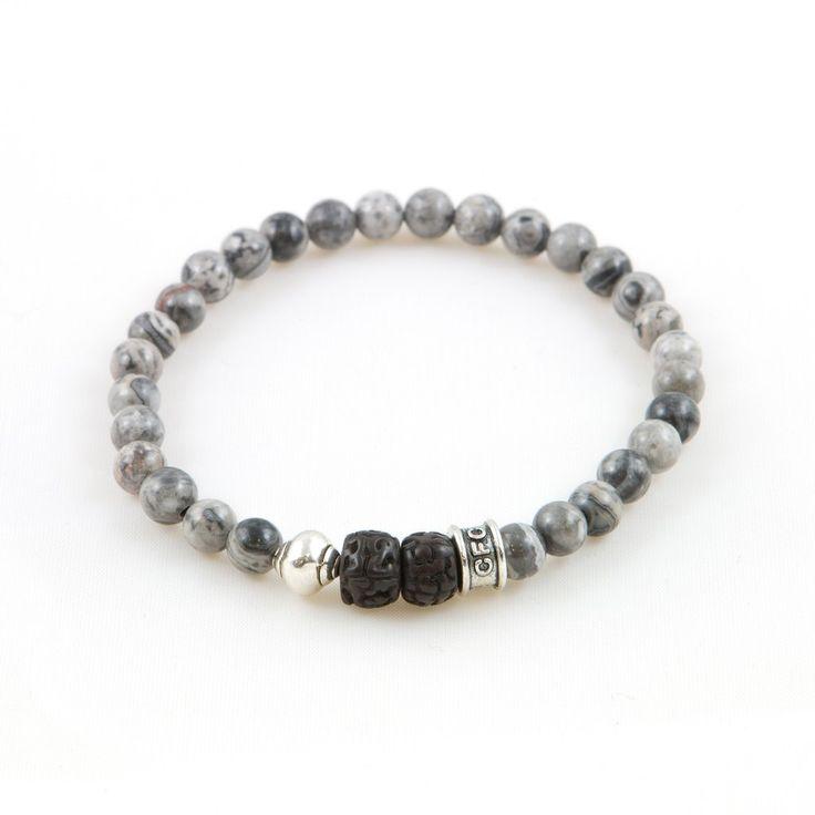 """Men's Charcoal """"Tibetan"""" Bracelet"""