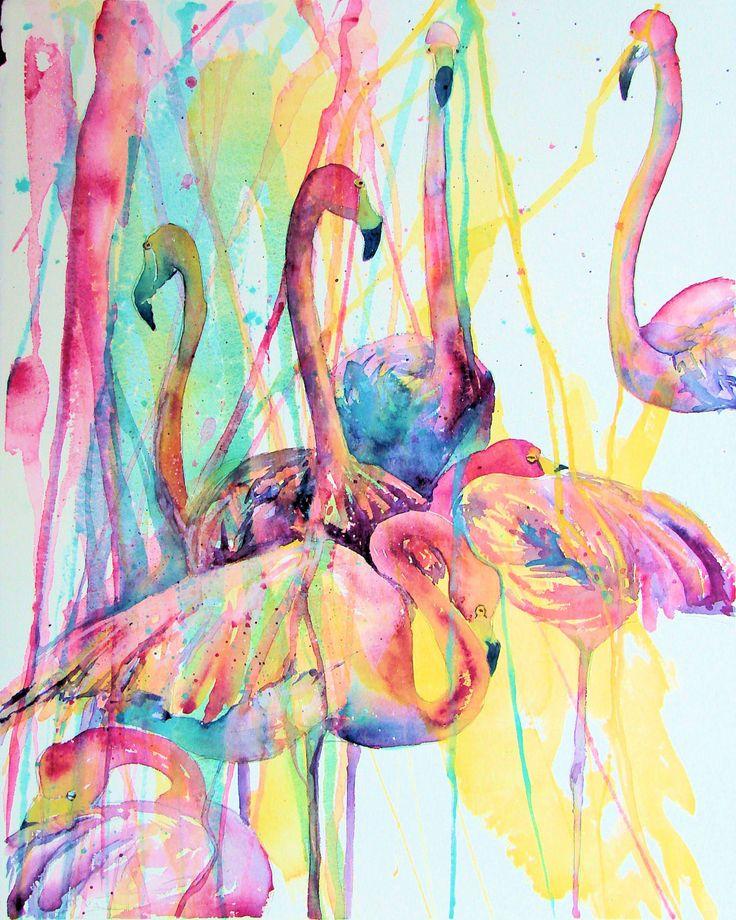Ideas About Flamingo Art On Pinterest Painting