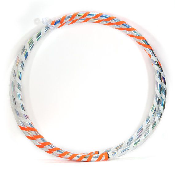 Custom Infinity HDPE Beginner Dance Hula Hoop - Orange Creamsicle
