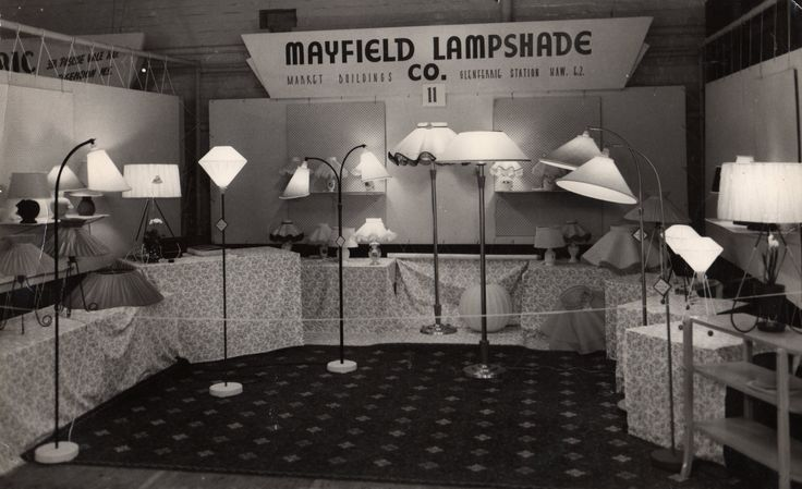 1954 || Mayfield's stand at a lighting exhibition.