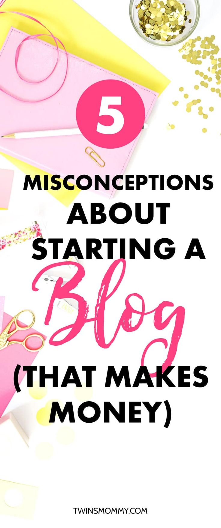 Interested in starting a blog? Can you make money blogging? Do you need a blog niche for blogging ideas? So much to learn when you're a new mom blogger. But, maybe you're not sure based on some misconceptions about starting a blog. Let me uncover those and help you make money as a blogger! | #moneytips #bloggingtips