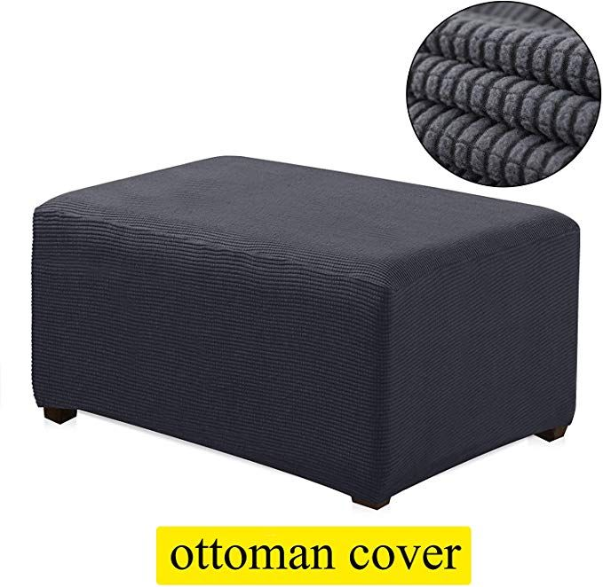 Tienciy Oversized Ottoman Slipcover Sofa Spandex Jacquard Stretch Storage Ottoman Slipcover Protector Covers Over Ottoman Slipcover Slipcovered Sofa Slipcovers