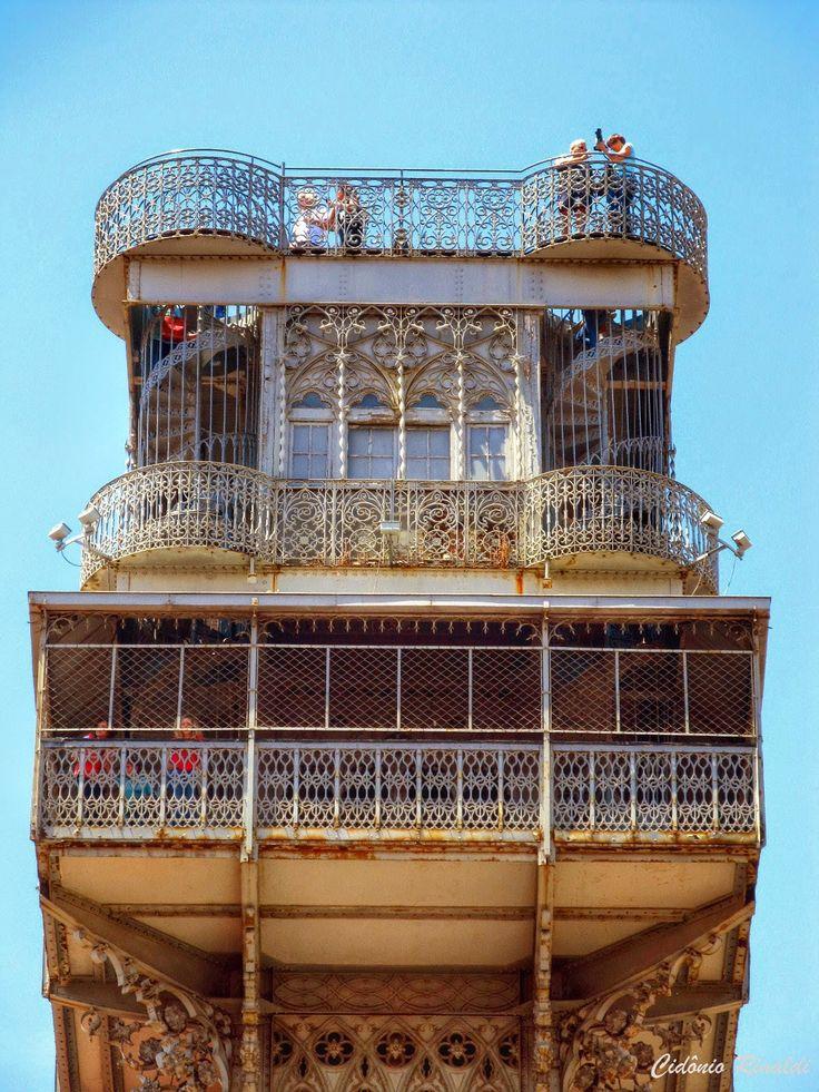 Alto do Elevador de Santa Justa - Lisboa - Portugal -> PicadoTur - Consultoria em Viagens. Siga nos.