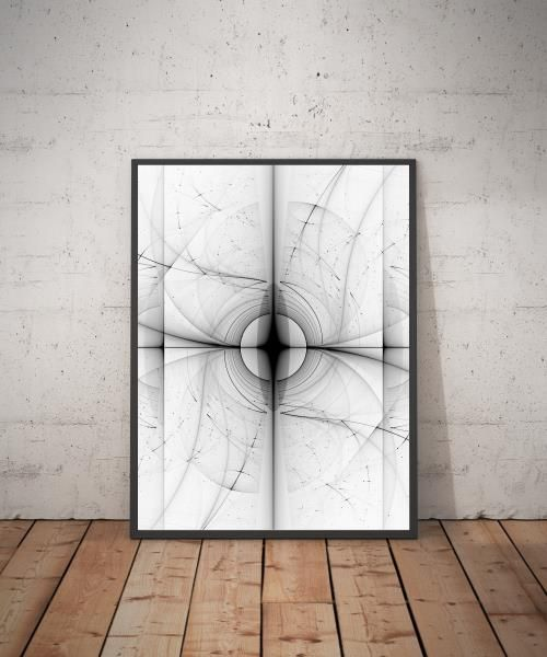 Black and White Abstract Art print    This abstract art highlights the marriage of technology with fine art through fractal art. Featuring a striking contrast of impregnable blackness overcast with swooping lines of black and white, this abstract art print evokes a sense of wonder, reflection, and illusion.    Shop now @ www.live-love-art.com