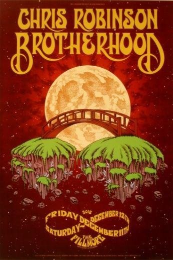 Chris Robinson Brotherhood - Fillmore SF - December 11-12, 2015 - Artist: Matt Loomis