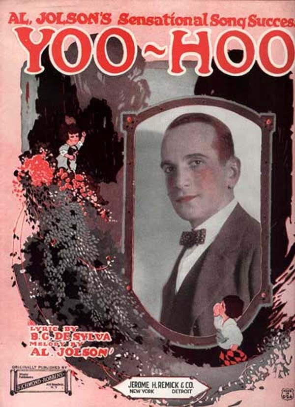 Vintage 1920s Sheet Music for the Song - Yoo Hoo - by Al Jolson. $12.00, via Etsy.
