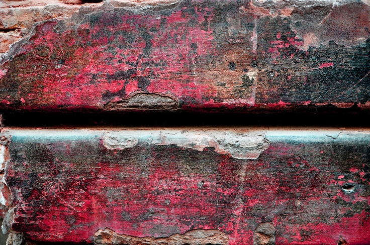red weathered wall
