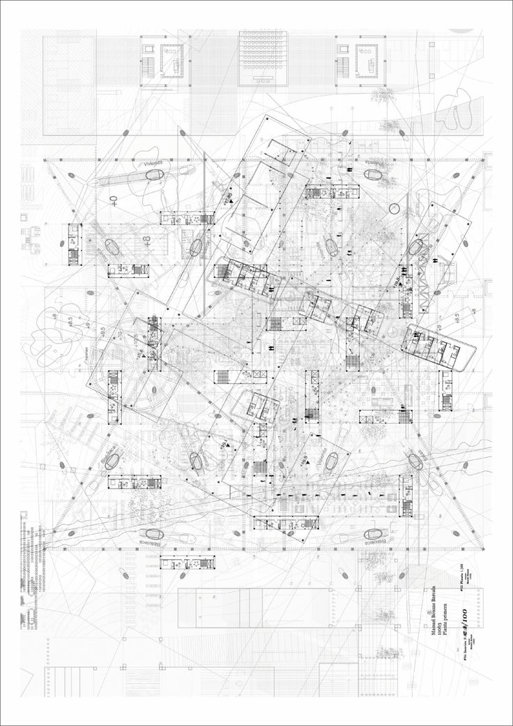 Planta Primera 1:300 (Plan Drawing of First Floor) Manuel Bouzas Barcala 2014