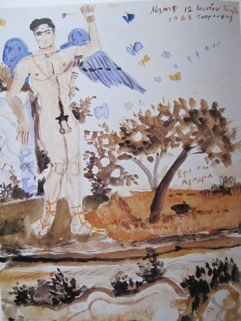 Eros statue, 1963 by Yannis Tsarouchis.