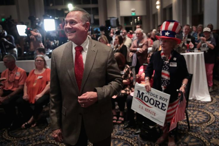 Mr. Moore, a firebrand former chief justice of the Alabama Supreme Court, overcame efforts by top Republicans to rescue his rival, Senator Luther Strange, defeating him on Tuesday in a special primary runoff, according to The Associated Press. He's suppose to be as racially motivated as Sheriff Arpaio and Donald Trump and he's taking over Jeff Sessions seat in the Senate, if he wins against a Democrat come November???