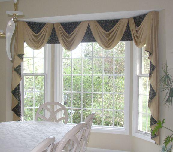2 fabrics window and curtain
