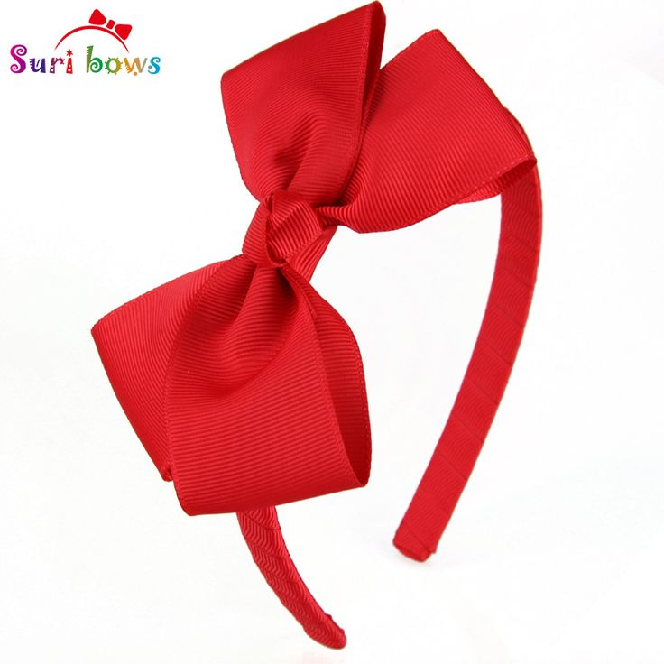 1 piece Lovely Girls Hairband 30 Colors Solid Ribbon Hairbow Hair Bands For  Girl Ribbon Band Kids Hair Accessories FS011