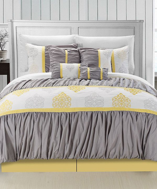 Love This Yellow Precious Comforter Set By Chic Home