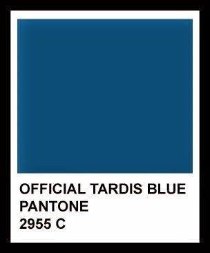 TARDIS BLUE IS OFFICIALLY A COLOUR! Well it was before but...