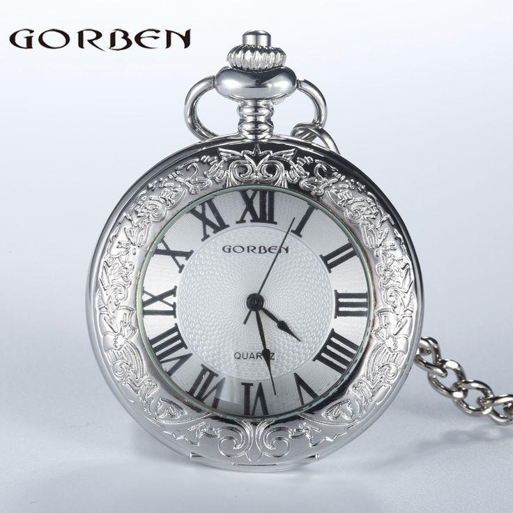 $7.61 (Buy here: https://alitems.com/g/1e8d114494ebda23ff8b16525dc3e8/?i=5&ulp=https%3A%2F%2Fwww.aliexpress.com%2Fitem%2F2016-Vintage-GORBEN-Silver-Carving-Pattern-Quartz-Pocket-Watch-Women-Roman-Number-Dial-FOB-Waist-Chain%2F32662397362.html ) 2016 Vintage GORBEN Silver Carving Pattern Quartz Pocket Watch Women Roman Number Dial FOB Waist Chain Men Relogio De Bolso for just $7.61