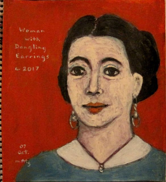 it is all in the book!: Woman with Dangling Earrings