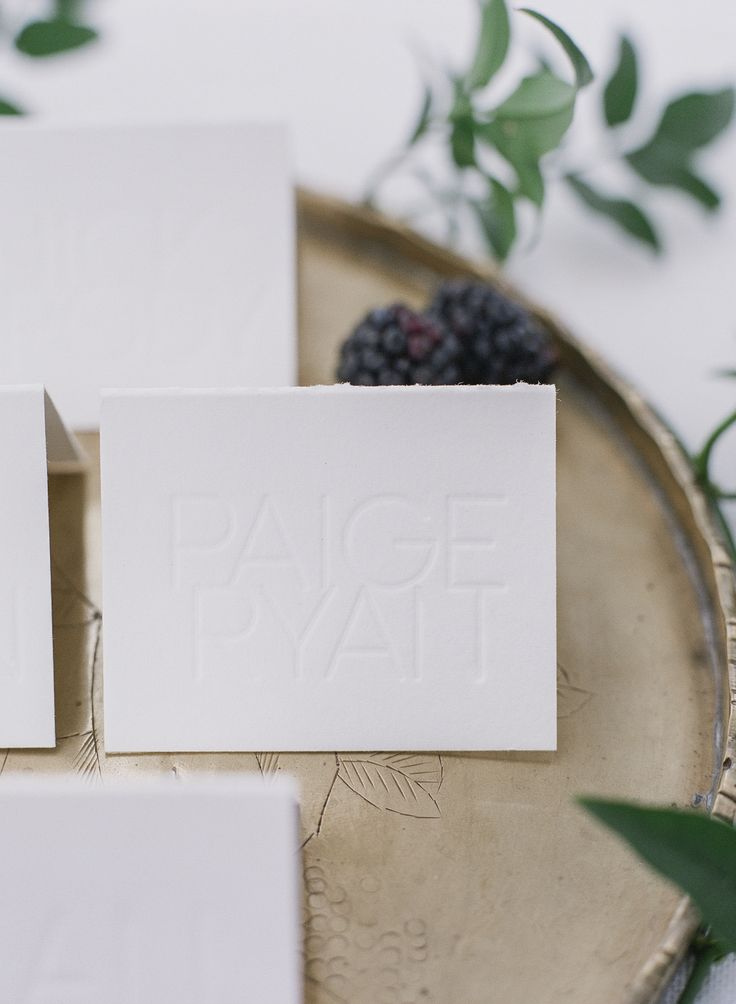 Aerialist Press Letterpress Wedding Place Cards | Styling: Ashley Pier | Photo: Jesse Leake | for Geraldine Mag issue no. 3