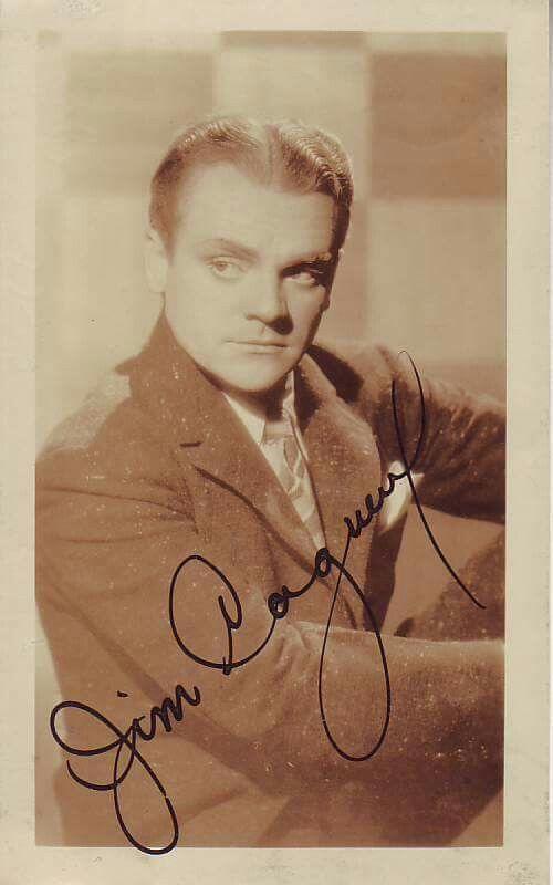 Original vintage cagney jim autograph picture