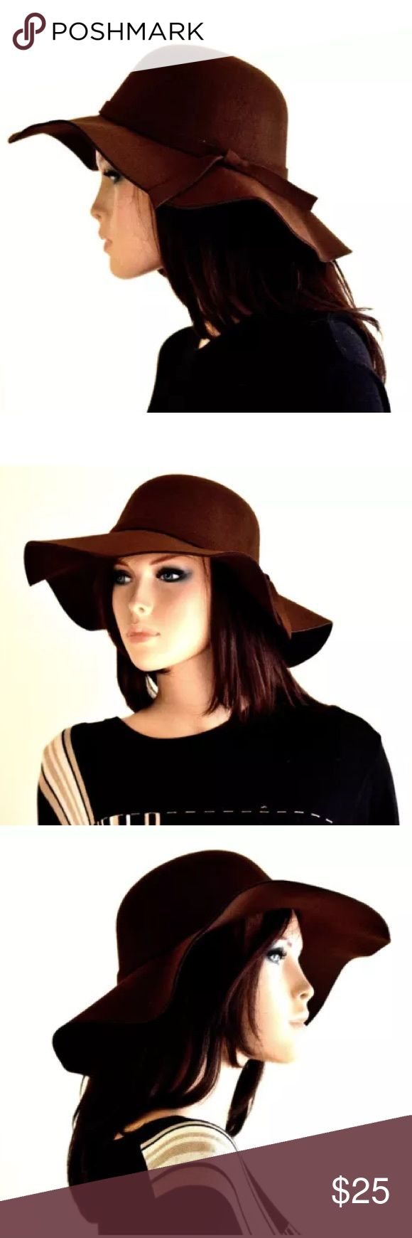 Brown felt hat floppy hat wide brim hats sun hat Proudly introducing Sassy & Cool brown felt hat!  These hats are so so classy and has a vintage inspired design. It is also complemented with a knot on the side.  Perfect for those days in the sun or cool nights!  Hat circumference: 21.65 inches  Hat height: 5.51 inches   Cool hats, women hats, derby hats, winter hats, vintage hats, womens winter hats, fashion hats, womens dress hats, fancy hats  SHIPPING  This item is ready to ship within 1-2…