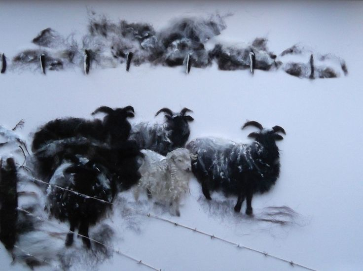 Hebridean sheep in the Snow By Jill Harrison httpwww.jill-harrison.webs.com