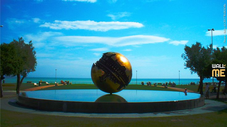 2017, week 25. Grande Sfera, by A. Pomodoro, in Pesaro - Italy.  Picture taken: 2006, 08