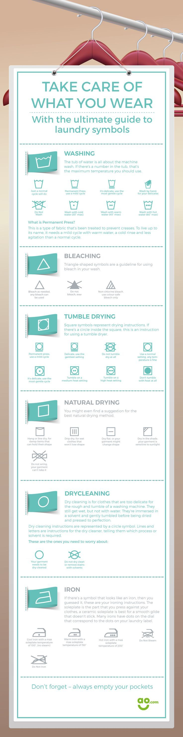 Take Care of What You Wear with the Ultimate Guide to Laundry Symbols
