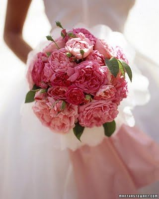 Nothing as simple or as beautiful as a bouquet of cabbage roses ...