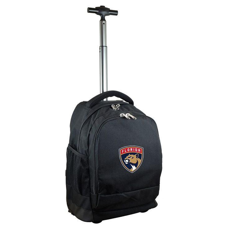 NHL Mojo Florida Panthers Wheeled Backpack - Black