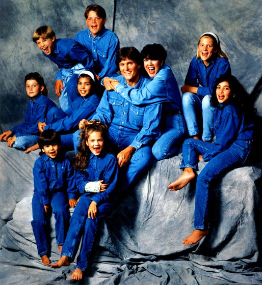 Years before they became household names, the blended Kardashian-Jenner family -- including Brandon and Brody Jenner -- was just another brood who dressed in matching outfits for annual portraits. The look for 1991? Denim on denim.