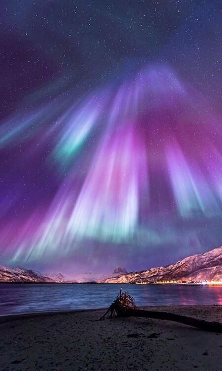 Aurora lights. Northern Norway