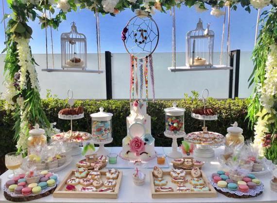 Outdoor Bohemian Chic Party Dessert Table Babyshowerideas4u Birthdayparty