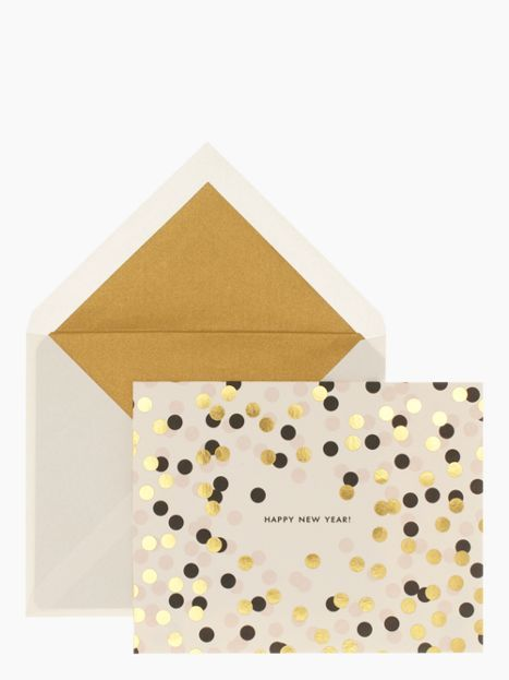Confetti New Year Holiday Card Set, $25, Kate Spade If you're on my card list, I just ruined the surprise.