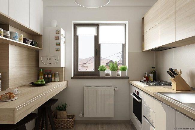 1-bucatarie moderna de 6 mp cu mobila proiectata pe doua laturi