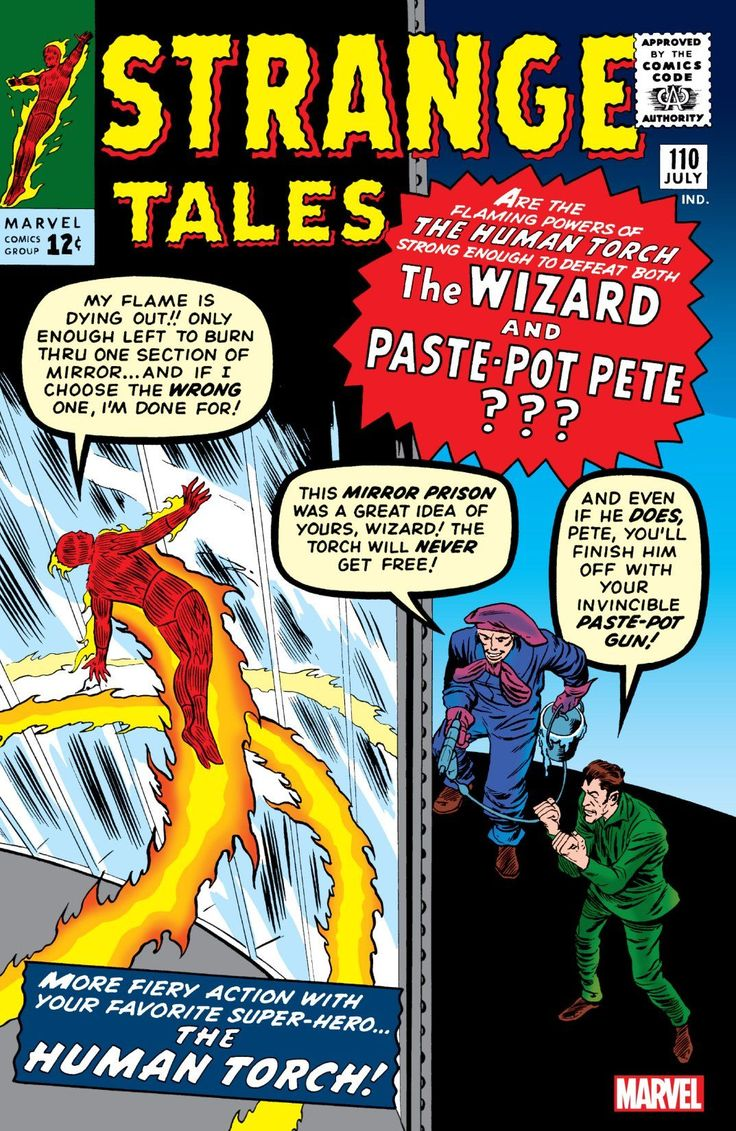 DR. STRANGE (Stephen Vincent Strange, M.D.) created by Stan Lee & Steve Ditko - debuted in 'Strange Tales' #110 (July 1963).  Obviously, Marvel didn't expect this character to be popular; he didn't even get a mention on the front cover!