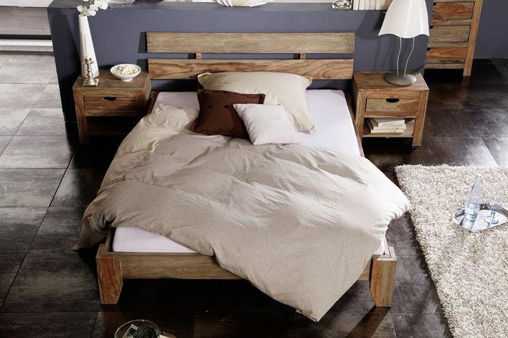 579,00 € Sheesham posteľ 180x200 , masívne palisandrové drevo NATURE GREY #212