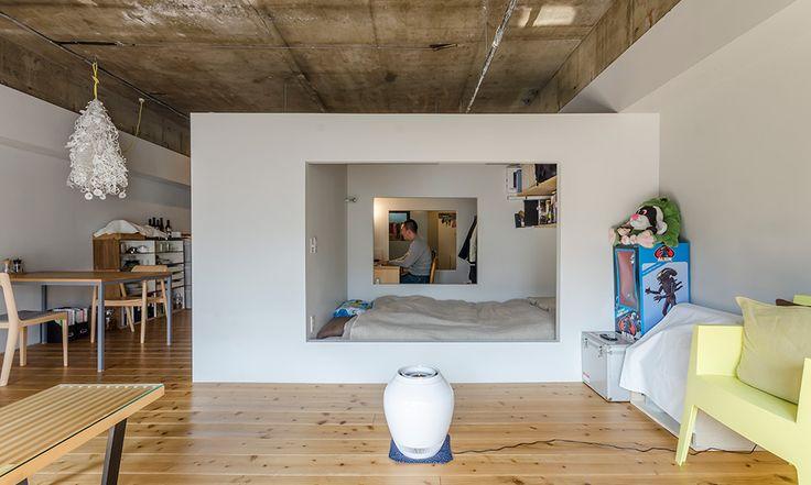 独創的なワンルーム白い箱が叶えたプライベート空間 | ToKoSie ー トコシエ