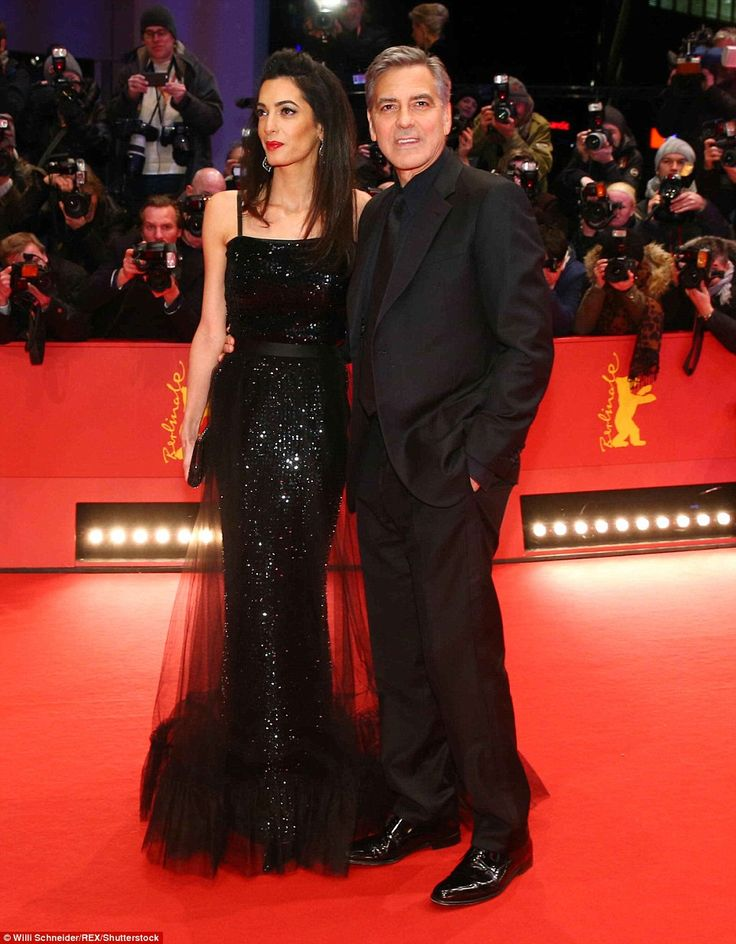 Hollywood royalty: Amal and George made for the picture-perfect A-list couple as they pose...