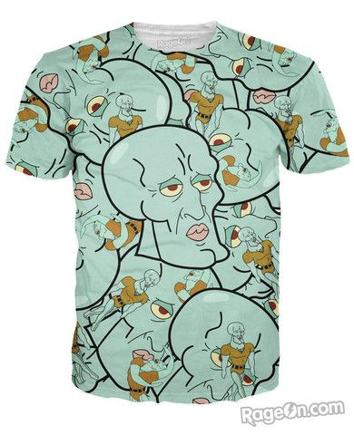 Handsome Squidward T-Shirt - RageOn! - The World's Largest All-Over-Print Online Store