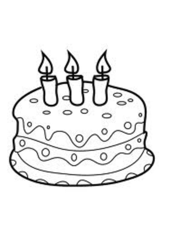 Birthday Cake Coloring Page 13 | Free Birthday Cake Coloring Page | 848x600