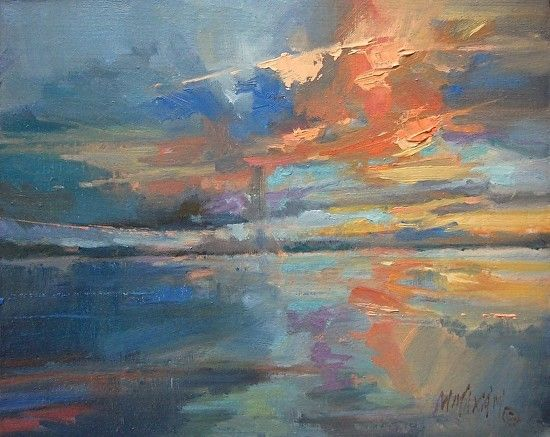 A Coral Sky oil painting Mary Maxam