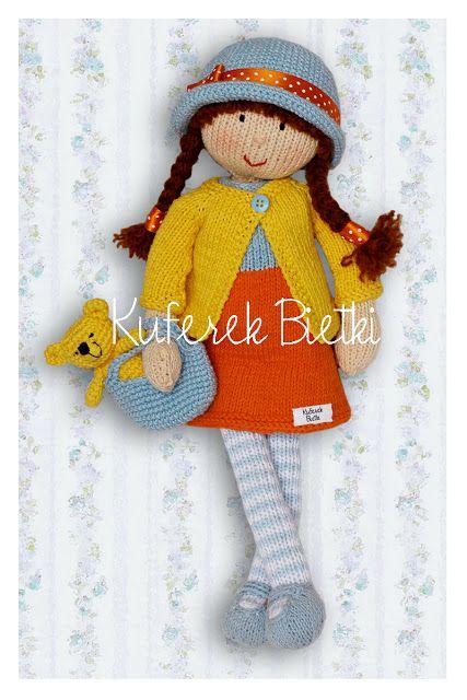 Kuferek Bietki: Eleonora - lalka wykonana ręcznie na drutach / Eleonora - gestrickte Puppe / Eleonora hand knitted doll