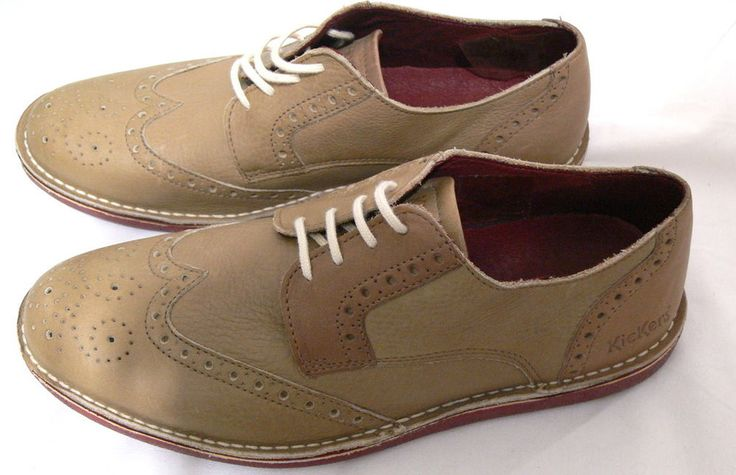 Kickers Urbania Derby Oxford Laces Brown Shoes Men Footwear Size 8.5 Euro 41 #Kickers #Oxfords