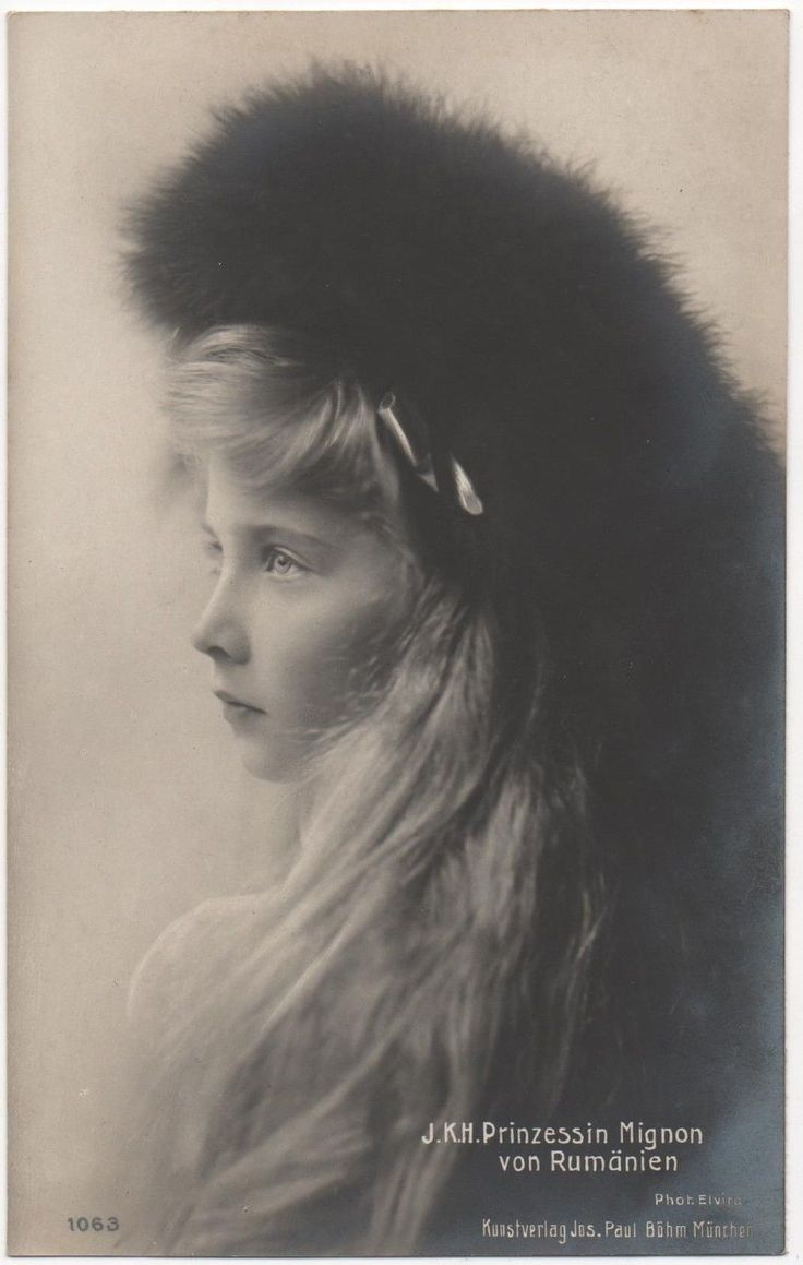 "Princess Maria ""Mignon"" of Romania (1900-1961) in about 1910.  This is my favourite picture of her."