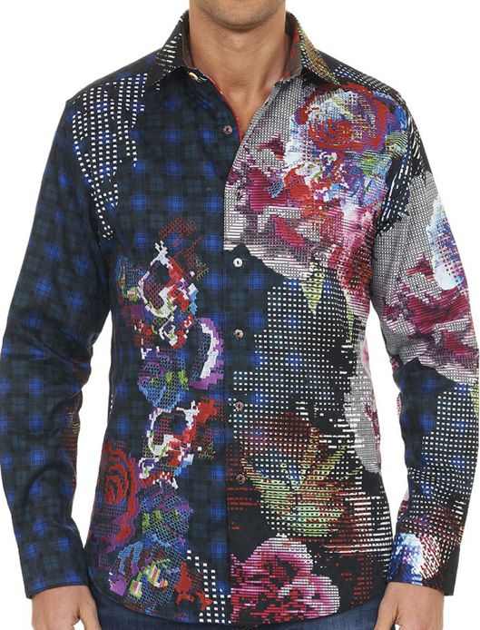 Robert Graham IN FULL BLOOM Limited Edition Embroidered Shirt, Style RF151615, 1621 made, Fall 2015