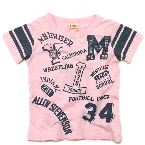 "OFFICIAL TEAM(オフィシャルチーム):""1978 SCHOOL"" Tシャツ ピンク の通販【ブランド子供服のミリバール】"