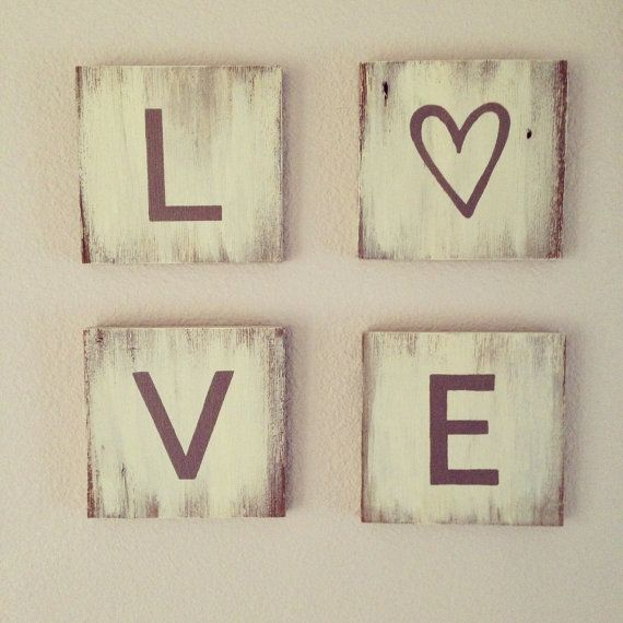Repurposed Wood Love Sign , Wall Art