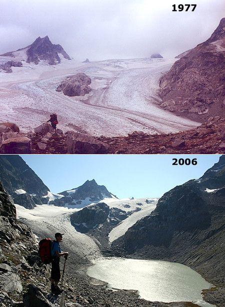 El retroceso del glaciar Honeycomb, en el estado de Washington, Estados Unidos.