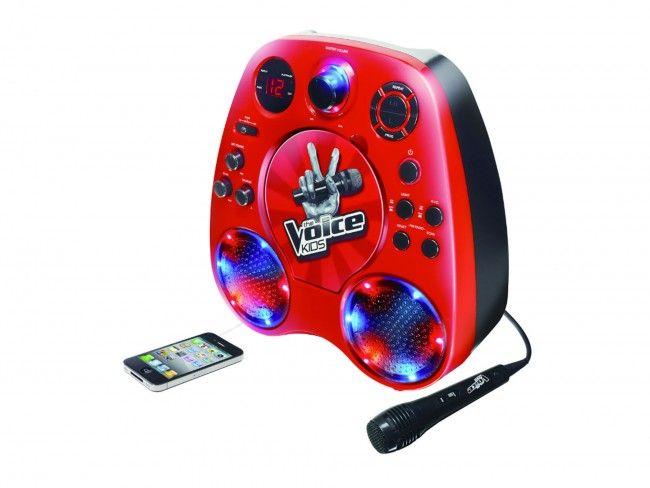 The Voice Kids Karaoke speler Rood - Karaoke systemen - 123platenspeler.nl